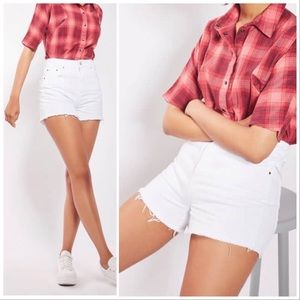 Topshop Moto Mom Shorts White Cutoffs Nordstrom